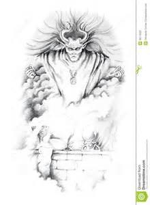 sketch of tattoo art jesus christ stock photography