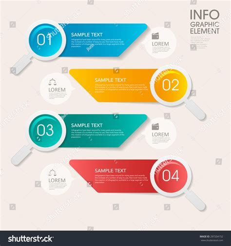 business infographic template design with step lable