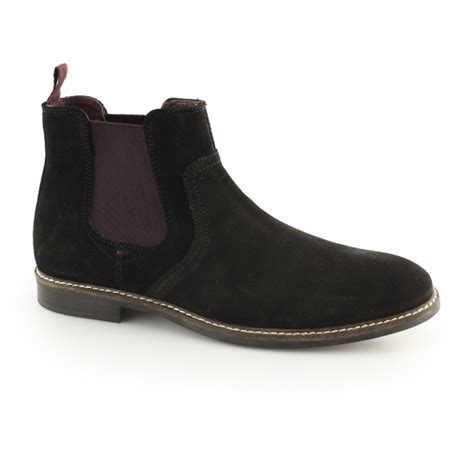 newton mens soft suede chelsea boots black buy