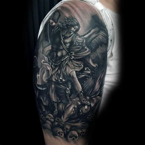 religious half sleeve tattoo designs for men 75 religious sleeve tattoos for spirit designs
