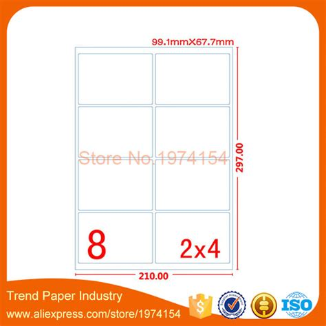 sticker printing paper size 5000 sheets a4 glossy blank label printing paper for laser
