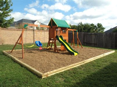 swing borders playset swingset and playground borders fall zones