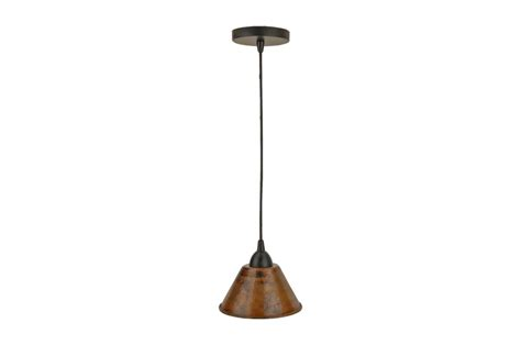 Hand Hammered Copper 7 Inch Cone Pendant Light Uvpcpl300db Hammered Copper Pendant Light