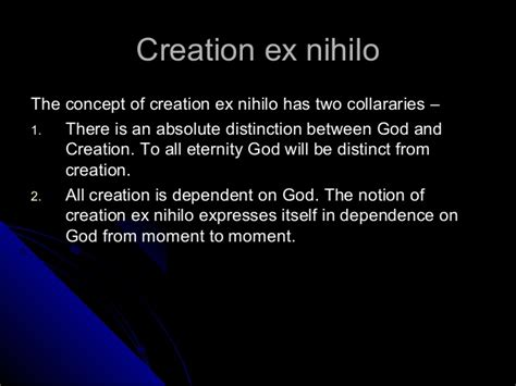 creation ex nihilo origins books concept of god god as creator