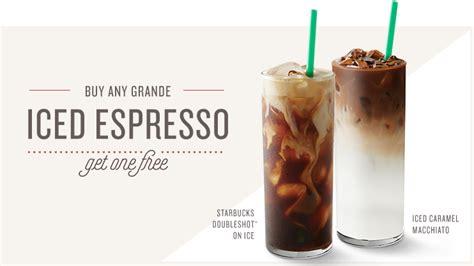 iced espresso macchiato iced espresso bogo starbucks coffee company