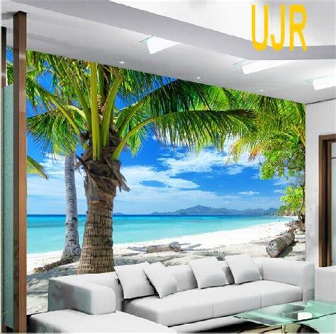Wallpaper Dinding 45 jual wallpaper dinding model pemandangan pantai kelapa untuk ruang tamu usaha jaya raya
