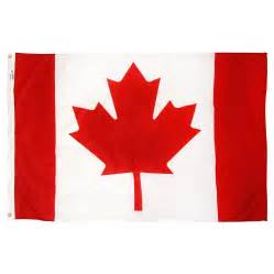 canada colors canada 3x5ft flag with pole hem only banner