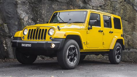 yellow jeep 2015 jeep wrangler unlimited x review jenolan caves