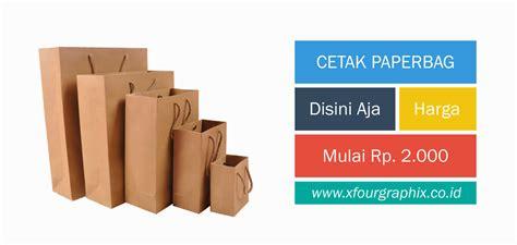Harga Paper Bag Polos Murah by Cetak Xfour Mencetak Semudah Belanja