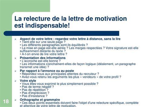 la lettre de motivation est ppt atelier cv lettre de motivation powerpoint presentation id 6900639