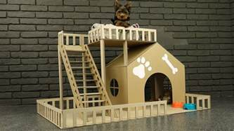 how do you make a house how to make amazing puppy dog house from cardboard youtube