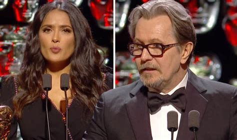 Whats Wrong With Salma Hayeks Ensemble by Baftas 2018 Gary Oldman Collects Darkest Hour Gong As