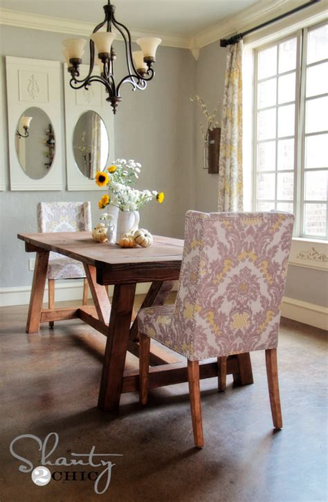 Dining Table Diy Diy Restoration Hardware Dining Table Shanty 2 Chic