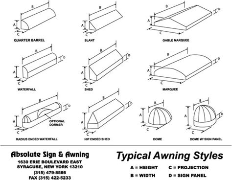 awning styles signs syracuse ny signs awnings commercial