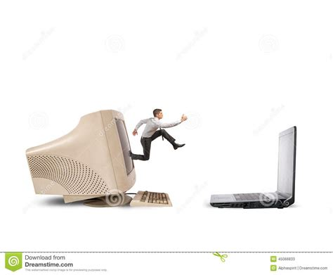 jump on computer upgrade stock photo image 45066833