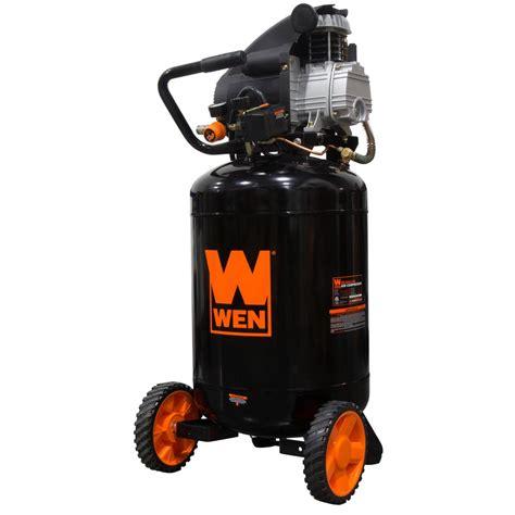 wen 20 gal lubricated portable vertical air compressor