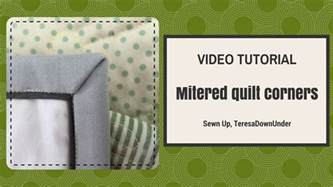 How Do I Miter A Corner In Quilting by Tutorial Mitered Quilt Corners