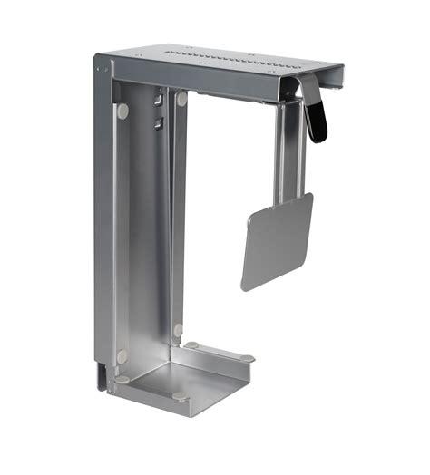 cpu holder desk adjustable cpu holder cs 30s for desk or wall mount
