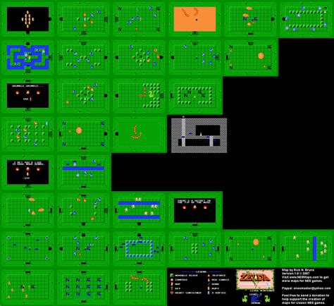 legend of zelda map layout nes legend of zelda printable map
