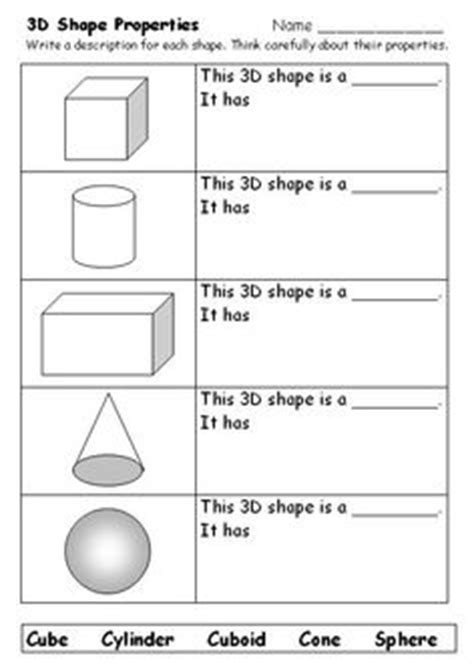 2d And 3d Shapes Worksheet by 1000 Images About 2d 3d Shapes On 3d Shapes