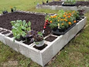 Raised Garden Beds Materials - concrete block raised beds