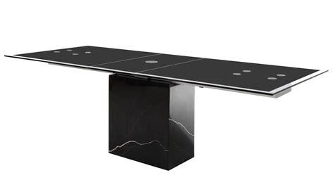 esstisch gestell esstisch sinja ausziehtisch glas gestell marmor schwarz