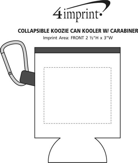 collapsible koozie 174 can kooler with carabiner item no