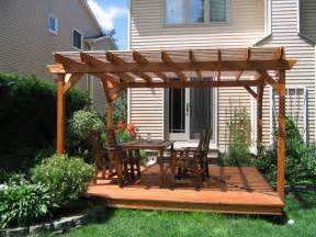 Ground Level Deck With Pergola by Decks And Fences Dream Deck Amp Fence Inc