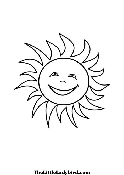 smiling sun coloring page free stars coloring pages thelittleladybird com