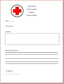 free doctor note template for work doctor s note templates 28 blank formats to create