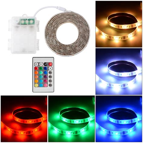 Led Colorful Mood Light With Remote Aa Rc01 waterproof multi color 5050 led lights rgb battery box remote ebay