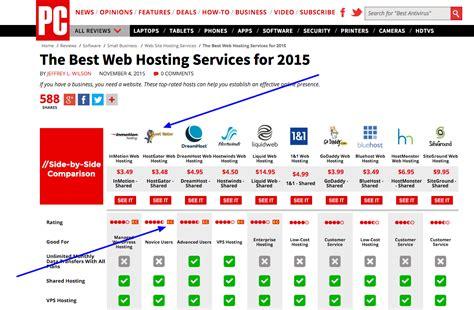 best of the web web hosting comparison top web hosting companies 2016