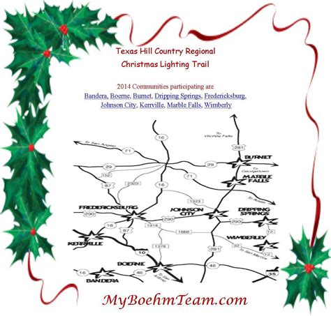 the hill country regional christmas lighting trail