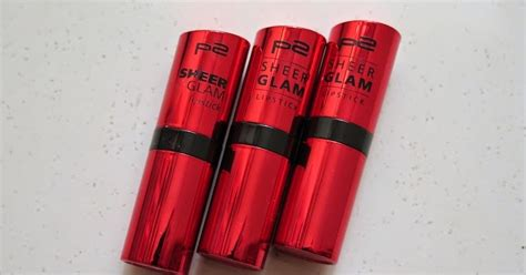 P2 Cosmetics Sheer Glam Lipstick 009 Message In A Bottle the blackmentos box review p2 sheer glam lipstick