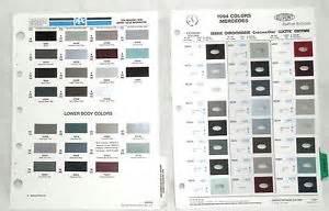 Mercedes Color Chart 1994 Mercedes Dupont And Ppg Color Paint Chip Chart