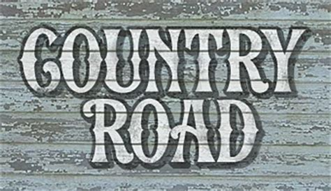 country style font letterhead fonts lhf country road vintage western fonts
