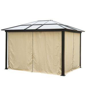 wetterfester pavillon kunststoffdach pavillon mit festem dach pavillons bauhaus in metall
