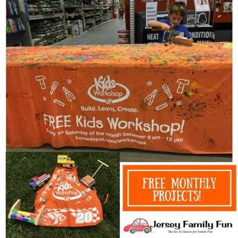 upcoming home depot workshops jersey family