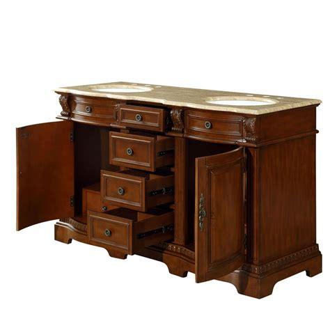 6314tw58d 58 Sink Vanity Travertine Top Cabinet