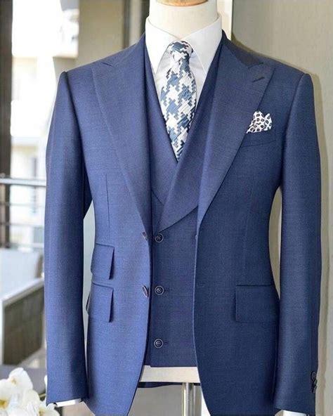 2017 Latest Coat Pant Design Light Blue Men Suit Slim Fit
