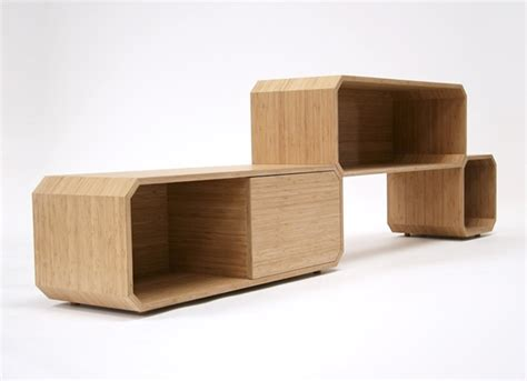 modular furniture design bamboo wooden cabinet design of system 24 by khodi feiz