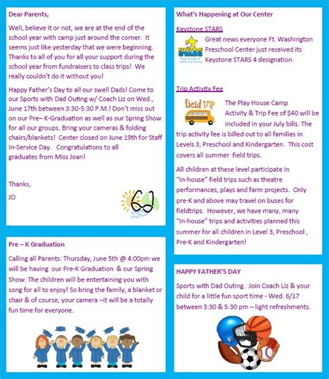 Sle Preschool Newsletter 8 Free Download For Word Pdf Newsletter Templates Free Printable