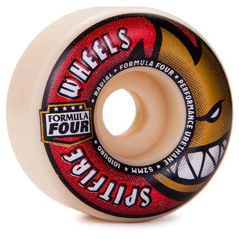 formula 4 spitfire spitfire formula four radial skateboard wheels 52mm 101a
