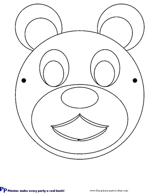bear mask coloring page best photos of cut out masks to color mardi gras mask cut