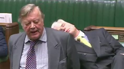 mp eu brexit mp falls asleep in parliament while remainer talks