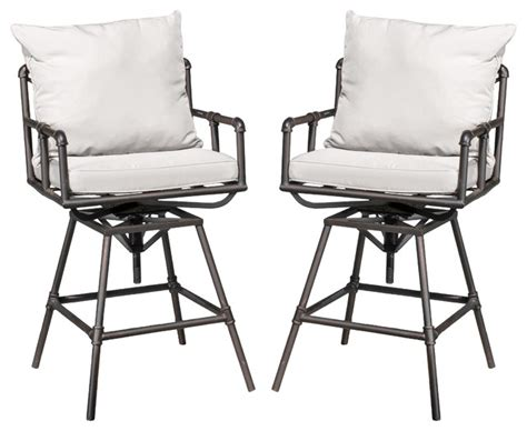 outdoor bar stool cushion bar stool cushion replacement beautiful varick outdoor adjustable pipe bar stools with cushion