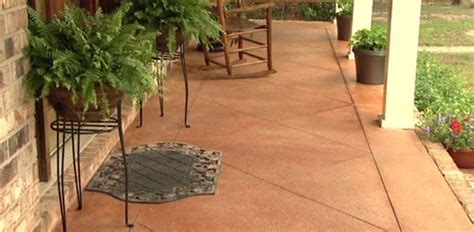 Stained Concrete Patio Pictures - how to score and acid stain a concrete slab porch or patio