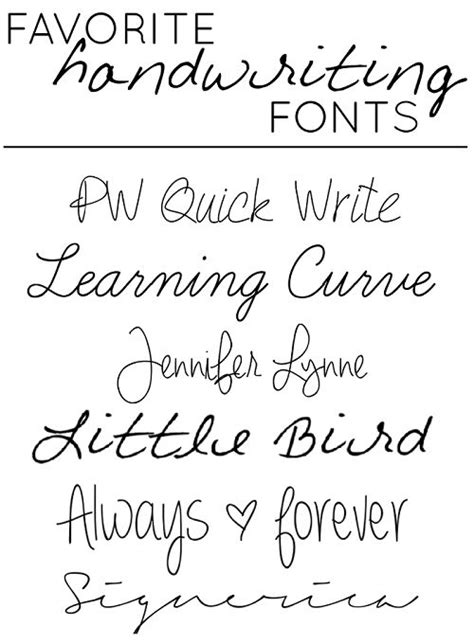 favorite quot handwriting quot style fonts tattoos pinterest