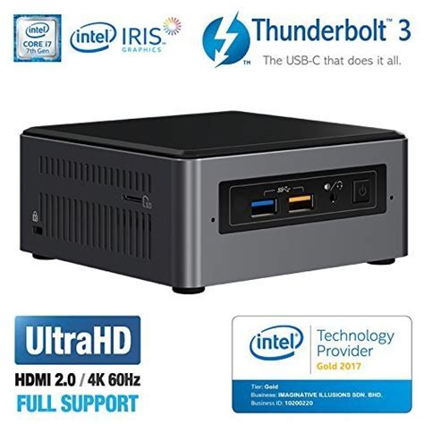 Intel Nuc 8gb Ram 1tb Hdd Dos Dual Nuc5cpyh 1 intel nuc nuc7i7bnh mini pc htpc intel dual i7 7567u