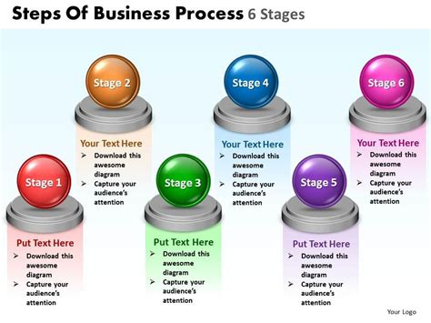 business powerpoint templates steps of process 6 stages